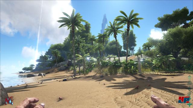 Die offene Inselwelt präsentiert sich sehr atmosphärisch mit authentischen Soundeffekten.