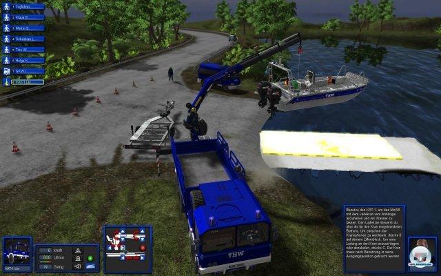 Zählt zu den Höhepunkten: Die Arbeit mit dem Kran und er anschließende Boot-Einsatz.