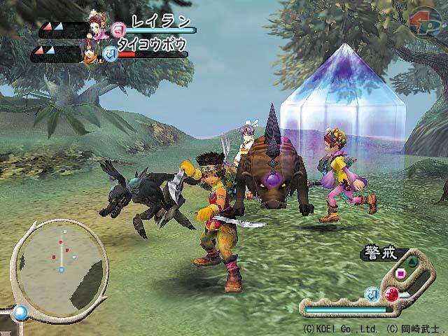 Die zwei ausgew�hlten Mitglieder, die im Kampf Shiga zur Seite stehen, k�mpfen unabh�ngig vom Spieler-Charakter.