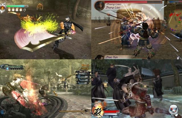 Abseits der Fantasy hat sich das Hack-n-Slay ebenfalls breit gemacht: Spiele wie Ninja Gaiden verfrachteten das »Du kannst gehen, aber deine Beine bleiben hier«-Prinzip in die asiatische Richtung; Dynasty Warriors und Co. gingen gar einige Jahrhunderte zurück in der Zeit und ersetzten mehrere Gegner durch Dutzende bis Hunderte - Dauerschlitzen ahoi! Ob Devil May Cry, Onimusha, Tenchu oder Bayonetta nun klassische Hack-n-Slays sind oder nicht, beschäftigt die Experten (also das 4P-Dartwurfgremium) schon seit gefühlten Ewigkeiten - aber sie passen thematisch ganz gut hier rein. 2074808