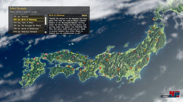 Neben dem Tutorial kann man zu Beginn aus neun historischen und einem fiktiven Ausgangsszenario wählen - weitere sind als DLC erhältlich.