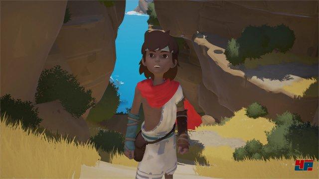 Ein Junge strandet auf einer idyllisch anmutenden Insel.