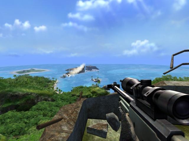 Far Cry <br><br> Genau wie bei den Kollegen der Just Cause-Fraktion kommen auch hier vornehmlich Action-Urlauber auf ihre Kosten. Das tropische Inselparadies setzte seinerzeit neue Maßstäbe und wäre mit seinen herrlichen Stränden und Dschungelabschnitten sicher ein schönes Plätzchen zum Entspannen - wenn da nicht die vielen bösen Buben wären, die gleich am Anfang einen Bootsausflug versauen.  2076838