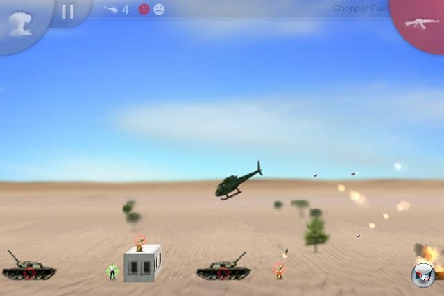 <b>Der beste Arcade-Spa�: Chopper</b><br><br>Das gute alte Choplifter-Spielprinzip wird hier um sch�ne 2 �D-Grafik, anspruchsvoll designte Levels und eine perfekte Neigungssteuerung bereichert - ein �bler Zeitfresser im besten Sinne!<br><br>Ebenfalls empfehlenswert: iShoot, Space Ninja, Blue Skies, Blue Defense, Retro - Cave Flyer, Iron Man, Alien Abuse, Crazy Tanks<br><br> 1950693