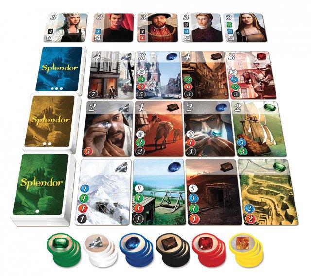 Splendor ist komplett auf Deutsch bei Asmodee erschienen. Es ist für zwei bis vier Spieler ausgelegt und kostet knapp 25 Euro.