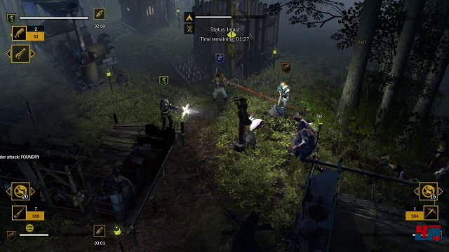 Bis zu vier Spieler können on- oder offline in den Kampf gegen die untoten Horden ziehen.