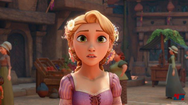 Auch Rapunzel: Neu Verföhnt gehört zu den Filmen, die Vorbild für eine Welt waren. Allen eingebundenen Filmen ist übrigens eine sehr gelungene Einbindung in die Kingdom-Hearts-Geschichte gemeinsam.