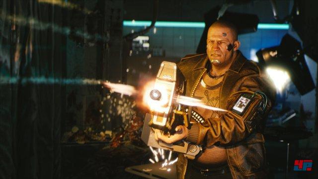 In manchen Augenblicken erinnert Cyberpunk 2077 eher an einen Shooter als an ein Rollenspiel.