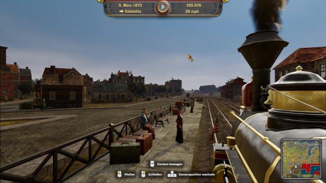"""Die Kulisse von Railway Empire ist stimmungsvoll, ohne herausragend zu sein und lässt sich auch als """"Passagier"""" erleben."""