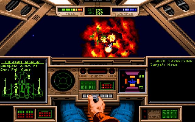 <b>Wing Commander</b><br><br>Im Juli 1990 sorgte der junge Programmierer Chris Roberts für Star Wars-Gefühl auf dem heimischen DOS-Computer: Wing Commander sorgte mit spektakulärer 3D-Grafik, großartiger Atmosphäre, einer tollen (und noch toller präsentierten) Story sowie dem innovativen, nicht-linearen Missionsverlauf für spontane Soft- und Hardwarekäufe - die damals noch weit verbreiteten 286er lieferten damals nämlich das ab, was heutzutage mit Crysis auf dem GBA passieren würde. In den Neunzigern war die Serie eine einzige Erfolgsgeschichte, die mit dem dritten und vierten Teil ihren absoluten Höhepunkt feierte. Der fünfte war schon ein spürbarer Schritt zurück, danach ging's sowohl mit der Reihe als auch mit Origin abwärts: Die Firma wurde von EA zerhackstückt, der Film zum Spiel war ein Desaster. Heute ist Wing Commander nicht viel mehr als ein ruhmreicher Name, der vor kurzem noch via XBLA (Wing Commander Arena) in den Dreck gezogen wurde. 1861403