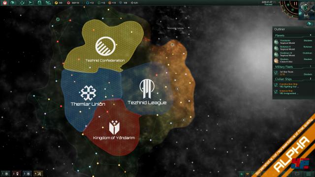 """In der Galaxie gibt es gefallene Imperien zu entdecken. Dies sind meist """"die letzten ihrer Art"""" und sie verteidigen ihre Territorien und Habseligkeiten zumeist mit sehr fortgeschrittenen Technologien."""